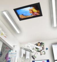 天井テレビ(小児歯科診療室)